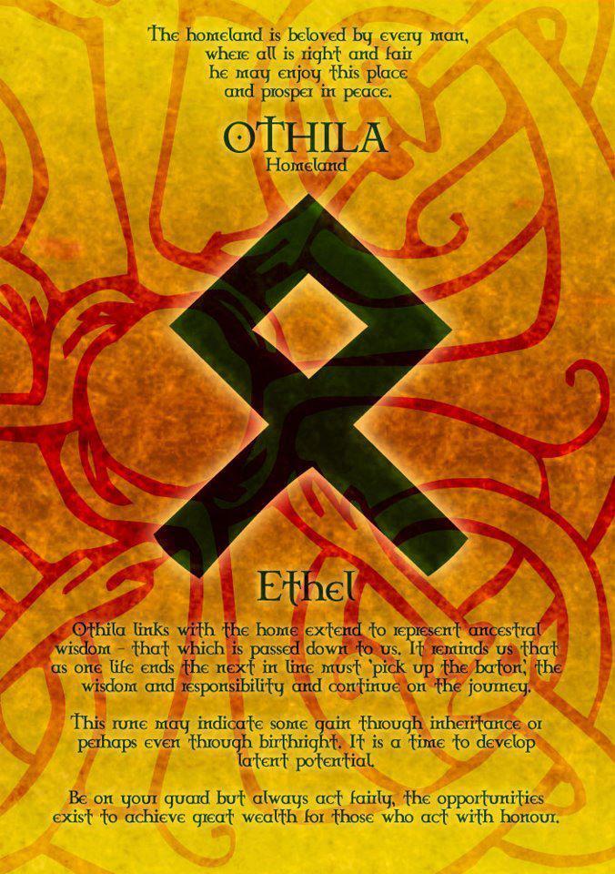 Odinist Othala Rune