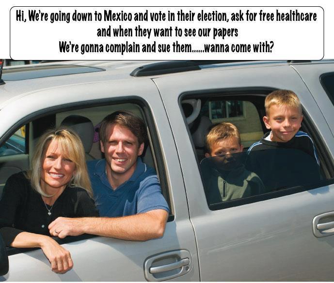 Vamos a ir a México. Hay demasiados mexicanos aquí.