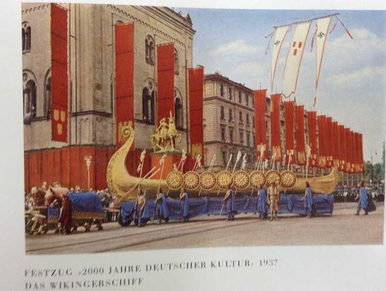 Viking Ship from historical German culture parade..
